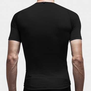 100% Merino SS Baselayer Black