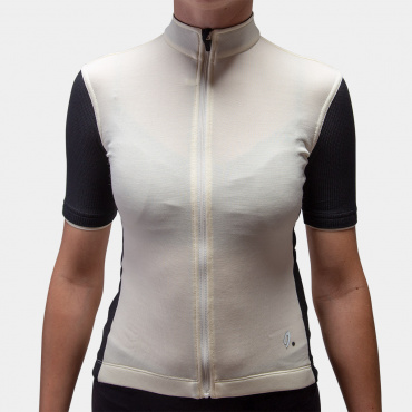 Signature Cycling Jersey Antique White/Jet Black 2.0