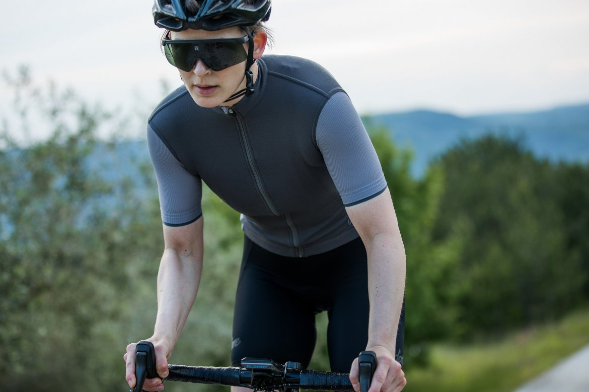Women's Signature Cycling Jersey Steel Grey/Quicksilver