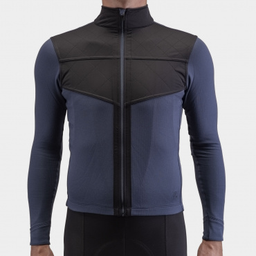 Long Sleeve Shield Jersey Indigo Blue