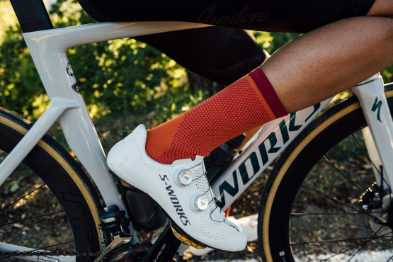 Cycling socks and oversocks