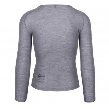 100% Merino LS Baselayer Grey